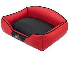 Hobbydog Elite Letto per Cani, Taglia XL, Colore: Rosso, con Federa Nero