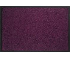 ID Opaco 608013 Mirande Tappeto Zerbino in Fibra di Nylon e PVC, in caucciù, Colore: Viola, Dimensioni: 80 x 60 x 0,9 cm