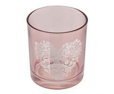 Axentia State Bicchiere portaspazzolino da Denti, Rosa, Ø 8 cm