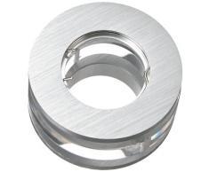 Aniba Design ABLAI0084 - Faretto alogeno a incasso, rotondo con elementi in vetro, colore: Argento