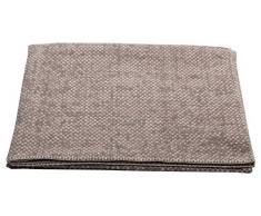 David Fussenegger Deco Plaid Struttura, Cotone/Tessuti Misti, Gesso, 200 x 130 cm