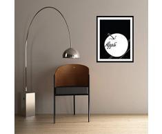 Walplus 29x36.25 cm adesivi da parete cornice MELA rimovibile autoadesivo arte murale decalcomania vinile DECORAZIONE CASA fai-da-te VIVENTE ufficio camera letto carta parati cameretta bimbi