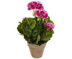 Mica Decorations 950216 T pianta artificiale, in plastica, 25 x 25 x 33 cm, viola