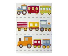 Jute & Co. Tappeto per Cameretta Bambini, Cotone Taftato, Multicolore, 100 x 140 cm
