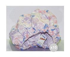 Glooke Selected Set 10 Cuffia Doccia con Fodera 3628 acconciatura e pettinatura Capelli, Multicolore, Unica