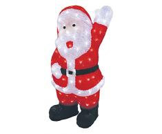 Kooper Babbo Natale Luminoso 120 LED, Plastica, Bianco