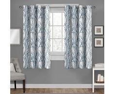 Exclusive Home coppia di tende con occhielli, per finestra tenda a pannello, poliestere, verde acqua, 160 x 137 cm