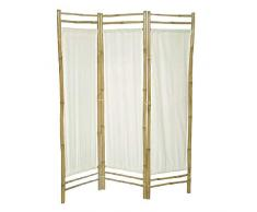 Dcasa - Paravento con 3 Pannelli di bambù, Decorazione per mobili, Adesivi per la casa, Unisex, per Adulti, Colore: Unico
