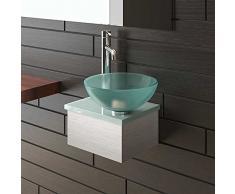 Vetro satinato Ltd lavabo a bacinella Ø 31cm con piatto i-flair lavabo 32cm di Alpi Berger®
