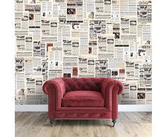 Walplus 147x118.8 cm adesivi da parete VINTAGE GIORNALE Collage 1 CONFEZIONE rimovibile autoadesivo arte murale decalcomania vinile DECORAZIONE CASA fai-da-te VIVENTE ufficio camera letto carta