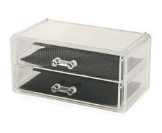 Galileo Casa Mini cassettiera portatrucchi 2 cass.18,7x11,5x9, Misure: l. 18,7 x p. 11,5 x h. 9 cm