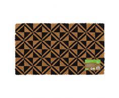 JVL - Zerbino per ingresso in fibra di cocco, ecologico, con retro in lattice, colore: Nero, Lattice Coro, Marrone, taglia unica