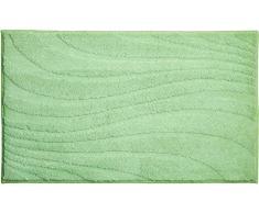 Linea Due Marrakesh Tappeto per Il Bagno, Poliestere MAGICSOFT, Verde, 60x100 cm