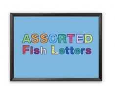 Hygloss, punch out bacheca lettere e numeri assortiti Fish design Combo Pack, 7,6 cm