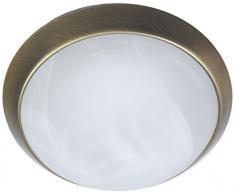 Niermann Standby a + + to e lampada da soffitto, parete anello ottone antico, Alabaster Art, 25 x 25 x 8 cm