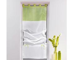 Douceur dIntérieur - Tenda a pacchetto con passanti, ceramica, verde, 45 x 180 cm