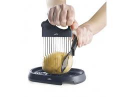 Lacor 68180 - Affettatrice per patate HASSELBACK, in acciaio inox 18/10, 18 x 10 cm, plastica