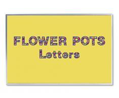 7,6 cm punch out bacheca lettere e numeri da fiori design Combo Pack