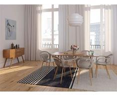 Zons Hiro-Set di sedie Sedia Sala da Pranzo con Seduta in PP, Grigio, 4