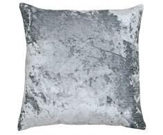 Paoletti, Cuscino Quadrato in Velluto, Neptune Premium, Poliestere, Pyrite Silver, 58 x 58 x 1 cm
