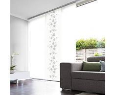 MADECOSTORE - Pannello giapponese in voile sbiancato, 45 x 260 cm, colore: Bianco