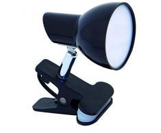 VELAMP Charly Spot Clip, Lampada Morsetto, Faretto LED con Pinza, 360 Lumen (5W) con Cavo ed Interruttore. per Camera Bimbo, Scrivania, Studio 5 W, Nero