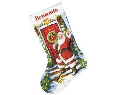 Dimensioni contati Punto Croce Kit, Benvenuto Babbo Natale