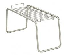 InterDesign Forma Ultra Scaffale da bagno, ripiano in metallo ideale da bagno, argento opaco
