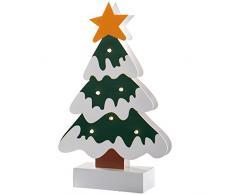 WeRChristmas-Decorazione a Babbo Natale da tavolo, legno, Legno, multicolour, 16.5 x 5 x 26 cm