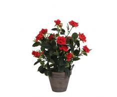Mica Decorations 948333 T pianta artificiale, in plastica, 25 x 25 x 33 cm, colore: rosso