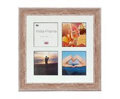 Inov Agosto 16 x 40.64 cornici mosaico Instaframe cm foto di Instagram 4/foto quadrati con nero opaco e bianco con bordo a filo, al rosa.