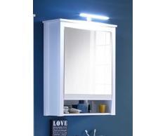 trendteam smart living 183945201 Armadio con Specchio, Bianco, 25 x 62 x 80 cm, 2 unità