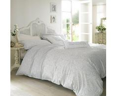 Ashley Wilde AW00056 - Set biancheria da letto della designer Emma Bridgewater, motivo: giardino fiorito, colore: blu pastello chiaro, Tessuto, Superking