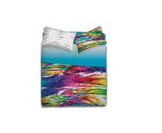 Gabel Colors Wall Lenzuolo Copriletto Singolo, Multicolore, 160 x 290 cm