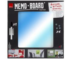 Brio 31900 - Lavagna magnetica, 40 x 40 cm, superficie a specchio