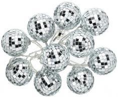 Talking Tables glitterati disco Ball LED lampade da tavolo party, argento