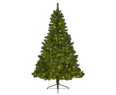 Kaemingk, Albero di Natale sintetico con luci a LED, per interni, 210 cm-380 L, Verde (Grün)