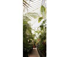 Scenolia Poster Adesivo per Porta al Fondo del Giardino 85x 205cm | Decorazione Parete qualità HD