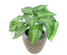 Leaf Design UK 45Â cm Artificiale Taro pianta Vaso in plastica Nera, Chiaro