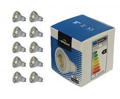 E-TEN Bright a Plus LED lampade vetro, 7 W, GU10, 50 x 56 mm, naturale 86127