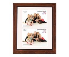 Tradizionali foto e cornici Inov 8 PFE-tail-DA2 britannici, 25 x 30 cm, doppia visiera 2x 13 x 18 cm, confezione da 4, in teak rustico