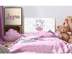 Oedim - Testiera per Letto in PVC, per Bambini, Motivo: Ostia Ballerina, 100 x 60 cm, Disponibile in Diverse Misure
