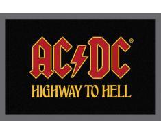 Empire Merchandising GmbH, 623904, Zerbino AC/DC, Highway to Hell, 60 x 40 cm, in Polipropilene, Colore: Nero