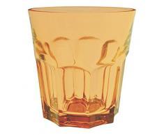Excelsa Atene Bicchiere Acqua cl 29, Vetro, Arancio, 8.69x8.69x9 cm