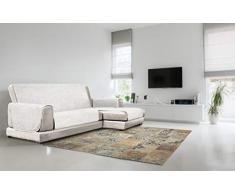 Italian Bed Linen Copridivano Antiscivolo Comfort con Penisola DX, Bianco, 190 cm