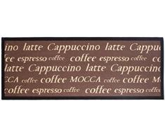 Andiamo 1100336 Tappeto da cucina, motivo cappuccino, Tappeto da cucina tazze di caffè, Oeko-Tex, 67 x 180 cm, marrone, moka, 250x67