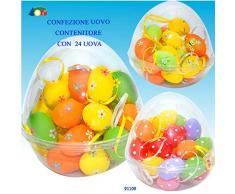 Givi Ginmar Giocaci 4.GI91109 Confezione da 24 Uova Colorate per Pasqua, Multicolore