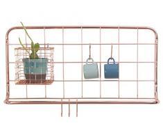 Present Time - Mensola da parete per cucina, con ganci porta asciugamani, in metallo