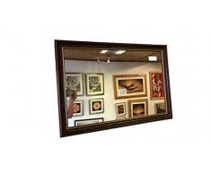 Modec Mirrors Grande Specchio da Parete in Mogano da 54 mm e specchi sovrapposti – Disponibile in Varie Misure (71 cm x 61 cm), Specchio smussato.