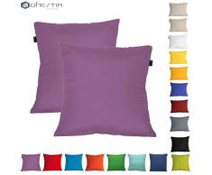 DHestia - Confezione da 2 federe per Cuscini, Decorazione Divano e Letto 45 x 45 cm Multicolore